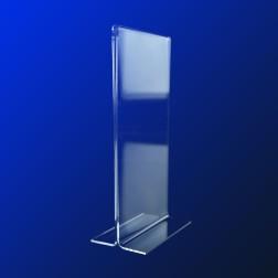 T Aufsteller aus Acrylglas DIN A4 Halb Hochformat Grünke® Acryl